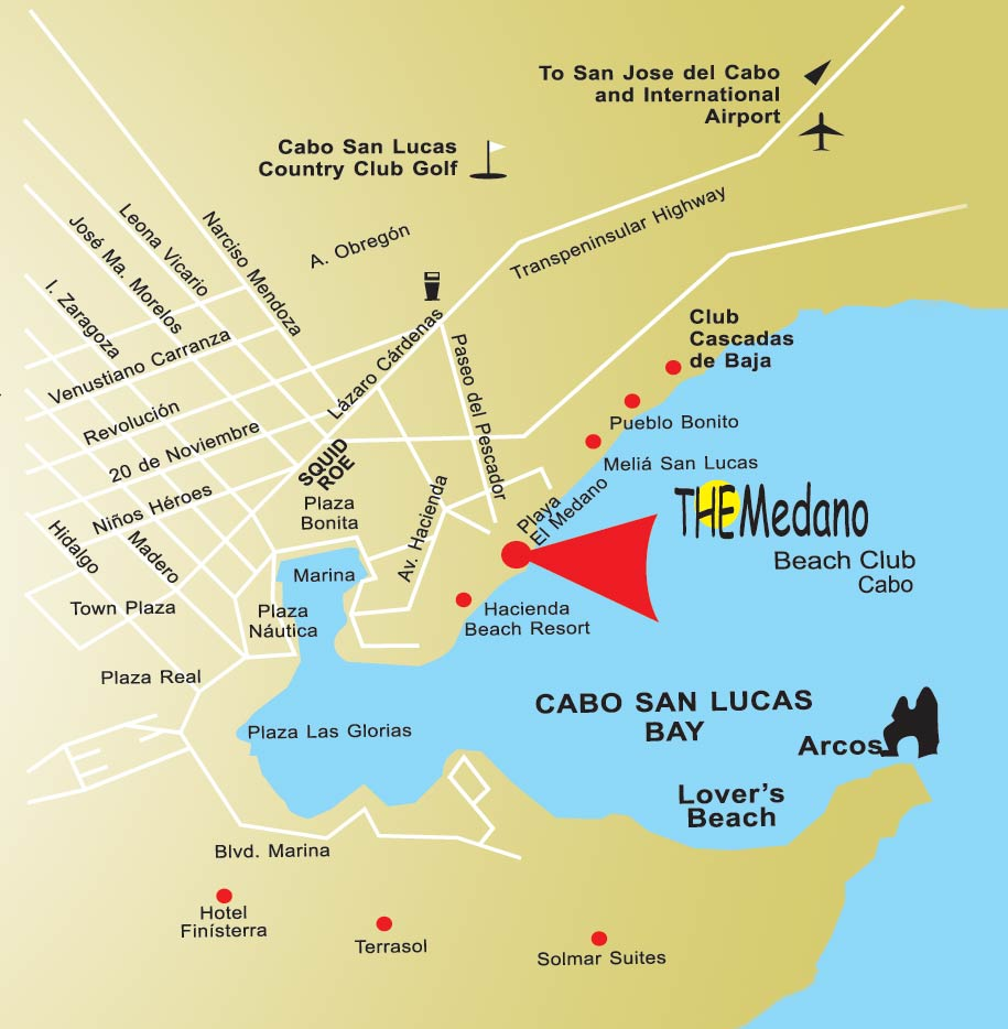 on cabo san lucas map